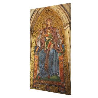Europe, Italy, Sicily, Taormina. Madonna & child Canvas Print
