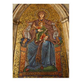 Europe, Italy, Sicily, Taormina. Madonna & child Postcard