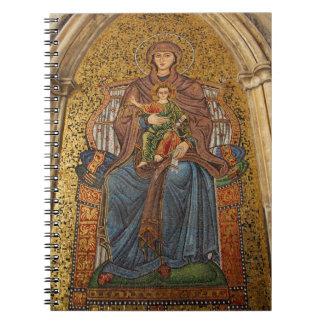 Europe, Italy, Sicily, Taormina. Madonna & child Spiral Note Book