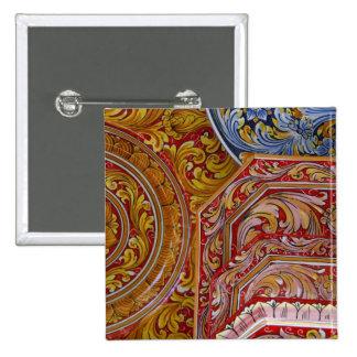 Europe, Italy, Sicily, Taormina. Traditional 2 15 Cm Square Badge