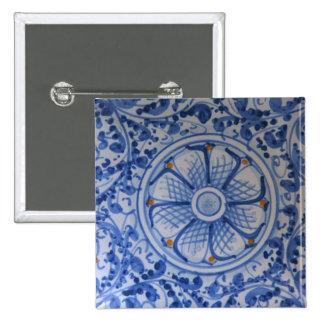 Europe, Italy, Sicily, Taormina. Traditional 5 15 Cm Square Badge