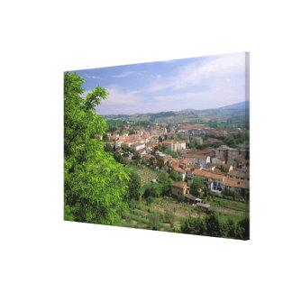 Europe, Italy, Tuscany, Certaldo. Medieval hill Canvas Print