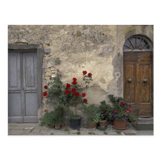 Europe, Italy, Tuscany, Chianti, Tuscan doorway; Postcard