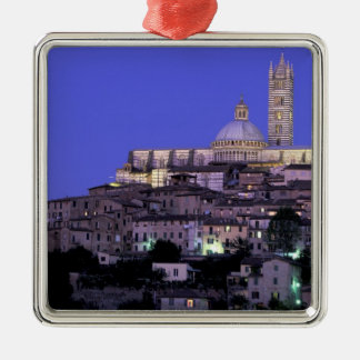 Europe, Italy, Tuscany, Siena. 13th C. Duomo and Silver-Colored Square Decoration
