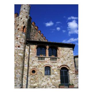 Europe, Italy, Umbria, Chianti, Montebenichi. Postcard