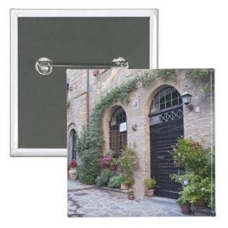 Europe, Italy, Umbria, Civita, Traditional House 15 Cm Square Badge