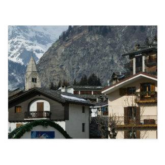 Europe, Italy, Valle d'Aosta, COURMAYEUR: Town Postcard