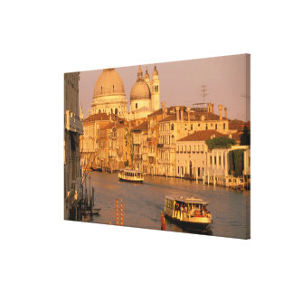 Europe, Italy, Veneto, Venice. Sunset view of Stretched Canvas Print