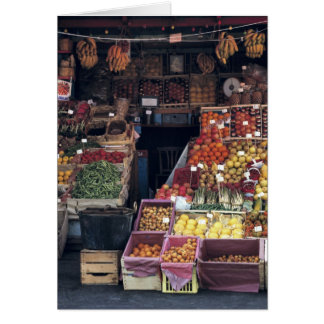 Europe, Italy, Venice area. Colorful fruits and Greeting Card