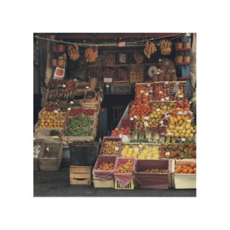 Europe, Italy, Venice area. Colorful fruits and Wood Canvas