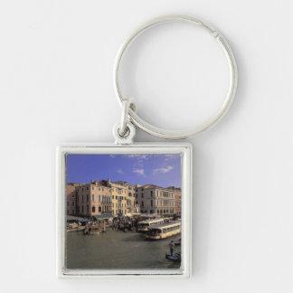 Europe, Italy, Venice, Boat traffic by Rialto Key Chain