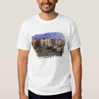 Europe, Italy, Venice, Boat traffic by Rialto Tshirt