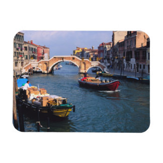 Europe, Italy, Venice. Boats bringing in Rectangular Photo Magnet