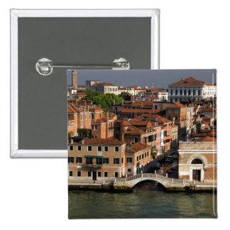 Europe, Italy, Venice. Canal views. UNESCO 15 Cm Square Badge