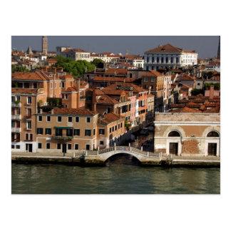 Europe, Italy, Venice. Canal views. UNESCO Postcard