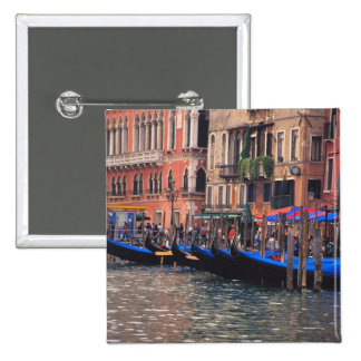 Europe, Italy, Venice, gondolas in canal 15 Cm Square Badge
