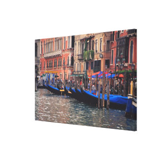 Europe, Italy, Venice, gondolas in canal Canvas Prints