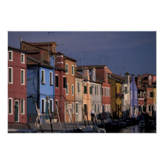 Europe, Italy, Venice. Multi, colored houses Poster