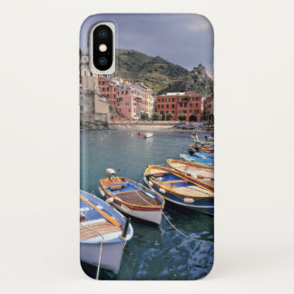 Europe, Italy, Vernazza. Brightly painted boats iPhone X Case