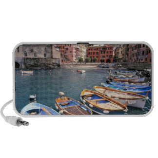 Europe, Italy, Vernazza. Brightly painted boats Notebook Speaker
