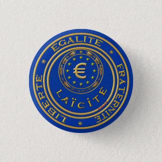 europe laïque laïc 3 cm round badge
