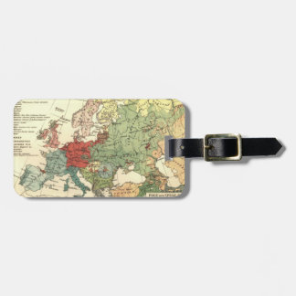 Europe Map Countries World Vintage Luggage Tag