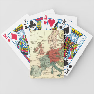 Europe Map Vintage Travel Bicycle Playing Cards