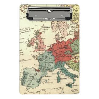 Europe Map Vintage Travel Mini Clipboard