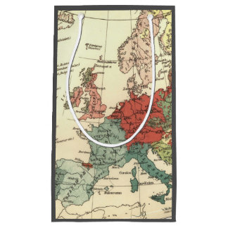 Europe Map Vintage Travel Small Gift Bag