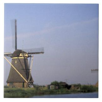Europe, Netherlands, Zuid Holland, Kinderdijk. Large Square Tile
