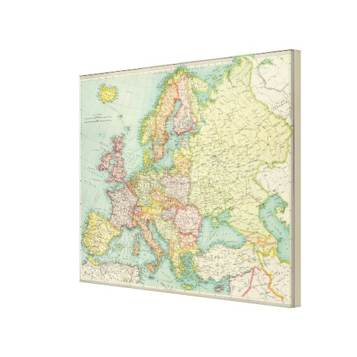 Europe political Map Stretched Canvas Prints