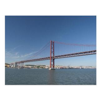 Europe, Portugal, Lisbon aka Lisboa). Ponte Postcard