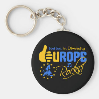 Europe Rocks! keychain
