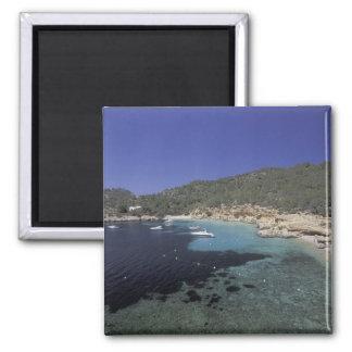 Europe, Spain, Balearics, Ibiza, Cala Salada. Square Magnet