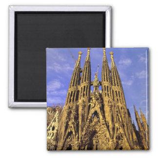 Europe, Spain, Barcelona, Sagrada Familia Square Magnet