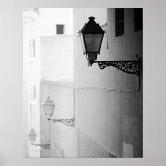 Europe, Spain, Mallorca. Streelights, Palma Poster
