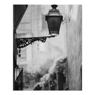 Europe, Spain, Mallorca. Street lamps, Palma Poster