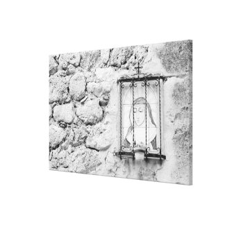Europe, Spain, Mallorca. The Holy Wall, Stretched Canvas Print