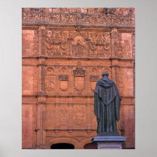 Europe, Spain, Salamanca. Coats-of-arms and Poster
