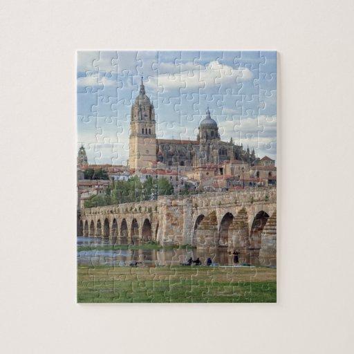 Europe, Spain, Salamanca. The Roman bridge over Puzzles