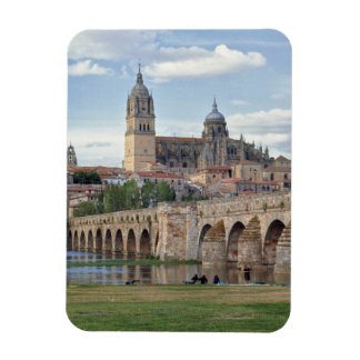 Europe, Spain, Salamanca. The Roman bridge over Rectangular Photo Magnet