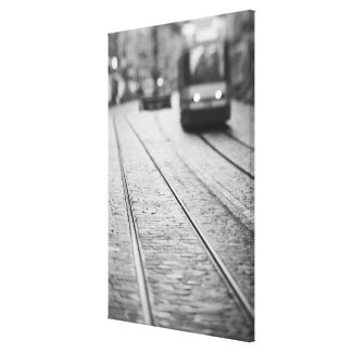 Europe, Switzerland, Berne. Tram tracks, Gallery Wrapped Canvas