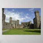 Europe, Wales, Caernarfon. Caernarfon Castle, Print