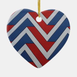 European 1970's Vinyl Vintage Monogram Styles Ceramic Heart Decoration