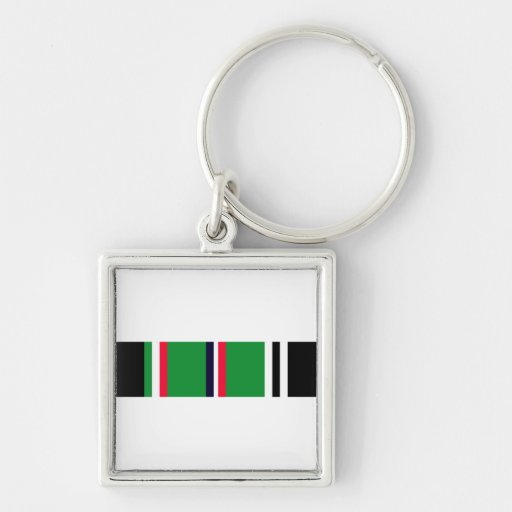 European-African-Middle Eastern Campaign Ribbon Key Chains