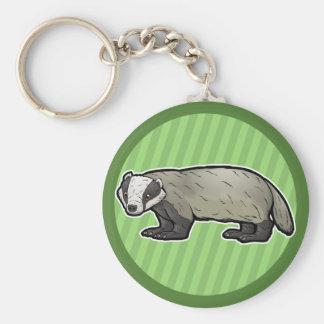 European Badger Key Ring