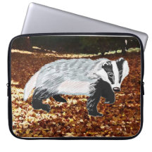 European Badger (Meles meles) Laptop Computer Sleeve