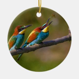 European Bee Eater Birds in Ariège France Christmas Tree Ornament