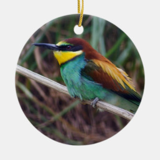 European Bee-eater Round Ceramic Decoration