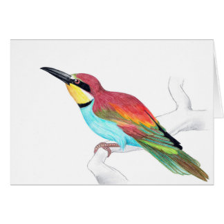 European bee-eater (Merops apiaster) greeting card